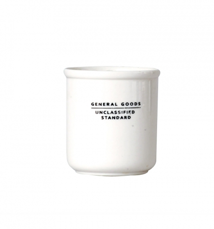 White Ceramic filled candle
