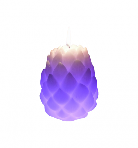 LED color changing Atiso flower Candle