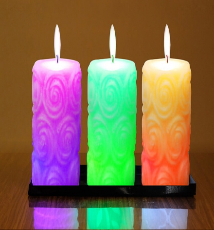 LED color changing Rose Décor Candle